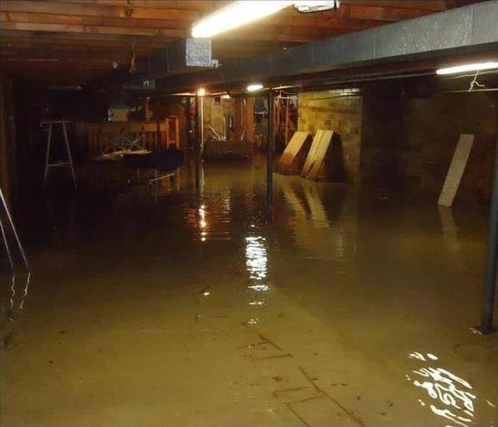 Flooded Funeral Home Basement